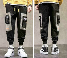 Streetwear Men's Multi Pockets Cargo Harem Pants Hip Hop Casual Male