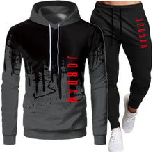 2 Pieces Sets Tracksuit Men Hooded Sweatshirt+pants Pullover Hoodie Sportwear