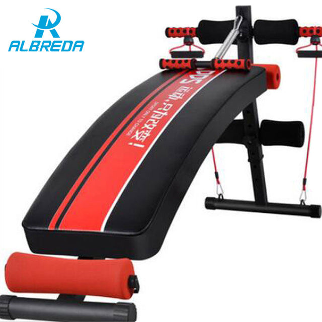 Pull rope bench machine