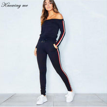 sexy off shoulder sweatsuit