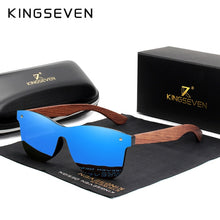 KINGSEVEN Natural Wooden Sunglasses Men Polarized Fashion Sun Glasses