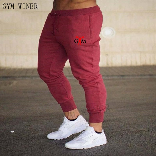 Fashion new logo men's sports and fitness pants
