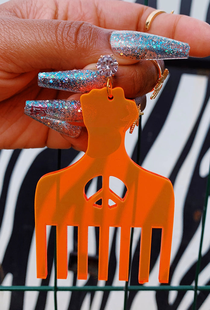 Afro Pick Earrings - Amarachi Jewellery