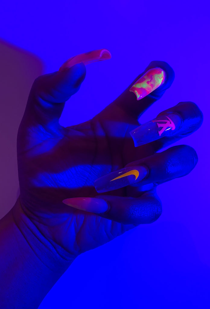 Limited Edition Neon Attraction Press On Nails - Amarachi Jewellery