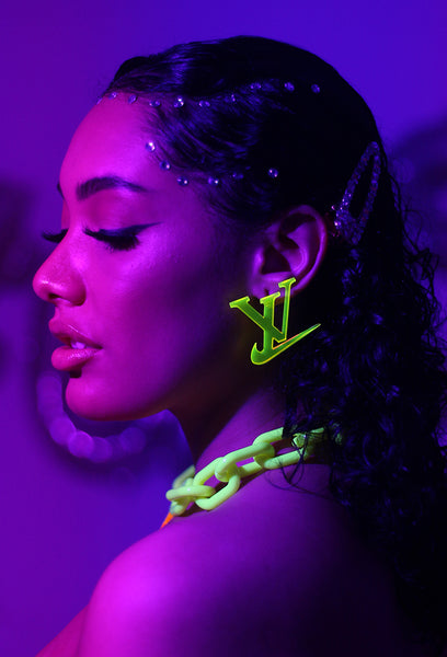Neon Sporty Luxe Earrings - Amarachi Jewellery