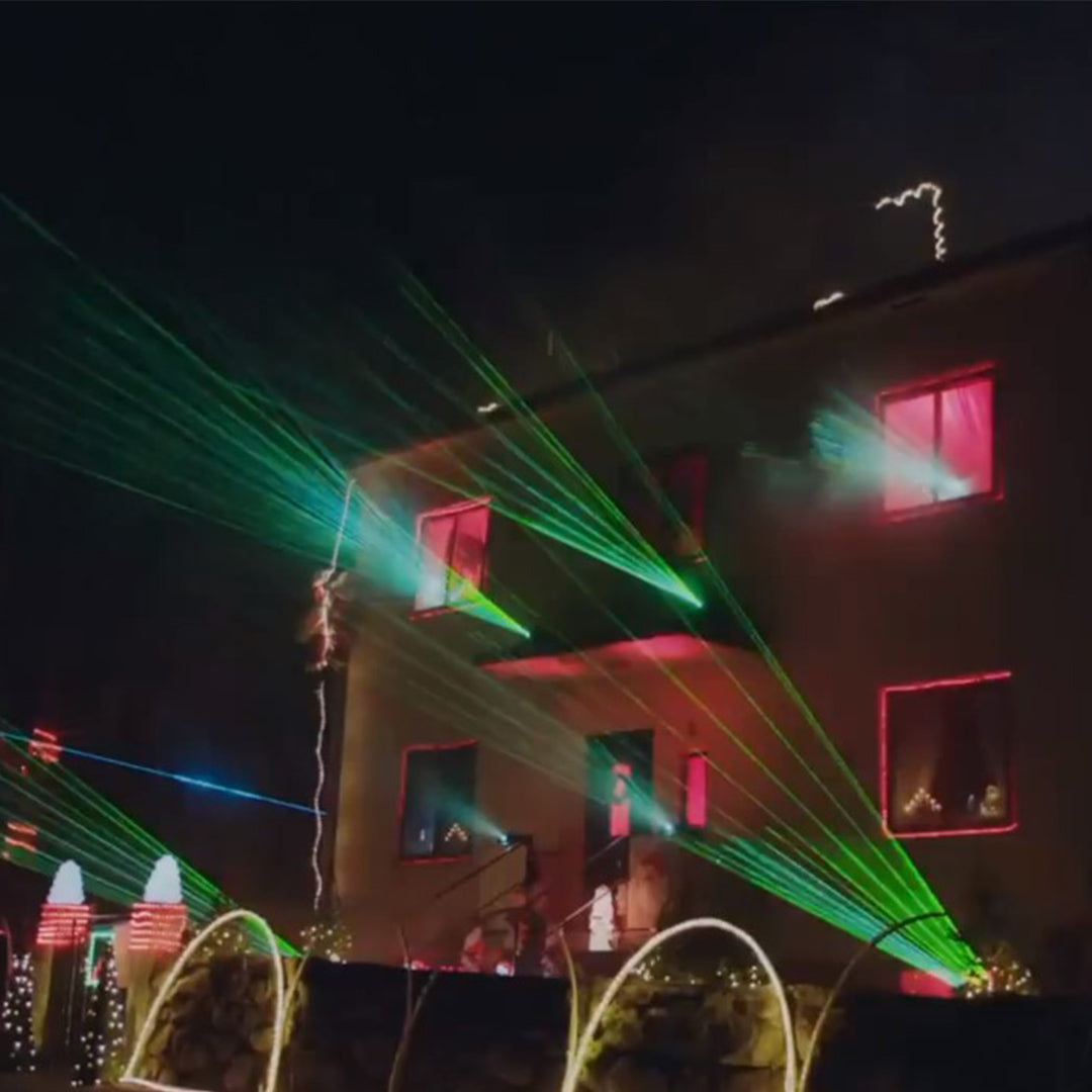 Amplify Your Christmas Lighting With Lasers