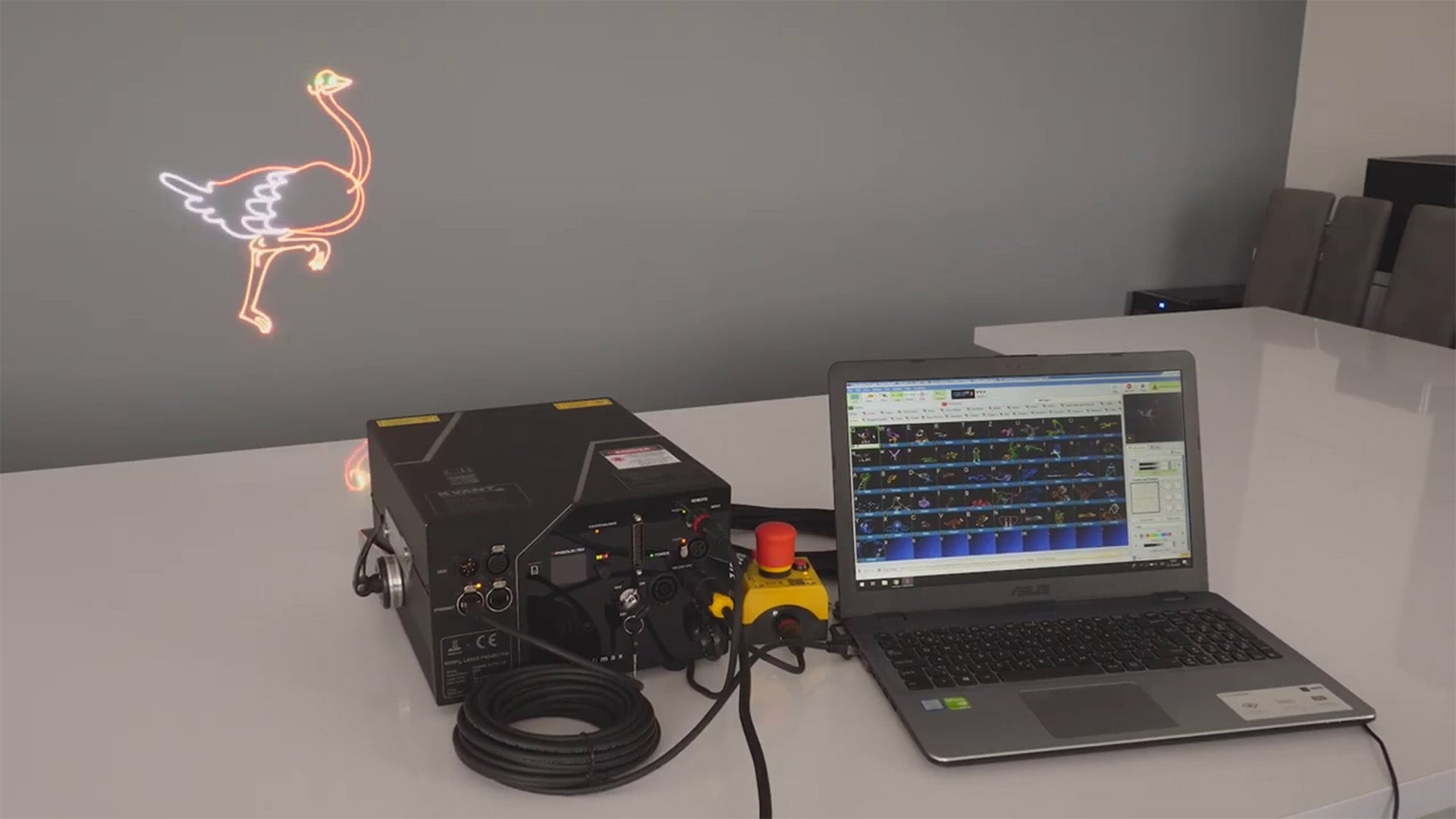 How To Setup And Start Your KVANT Laser Display System