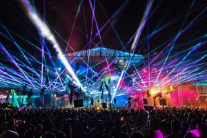 Imagine festival lasershow