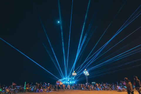 Mayen warrior burning man lasershow