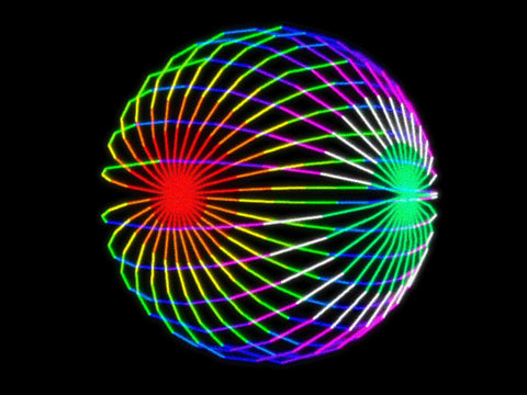 laser graphic gradient circle