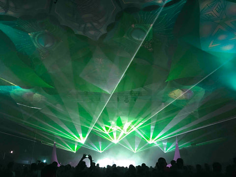 green aerial lasers