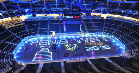 Pittsburg Penguins StanleyCup Icehockey Laser Text and Logo