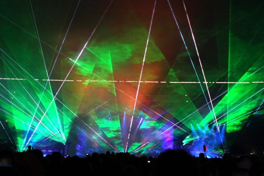 Laser shows at events can be free laser shows or commercial laser shows