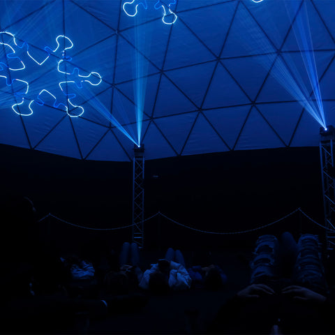 Snowflakes Inside Laser Dome