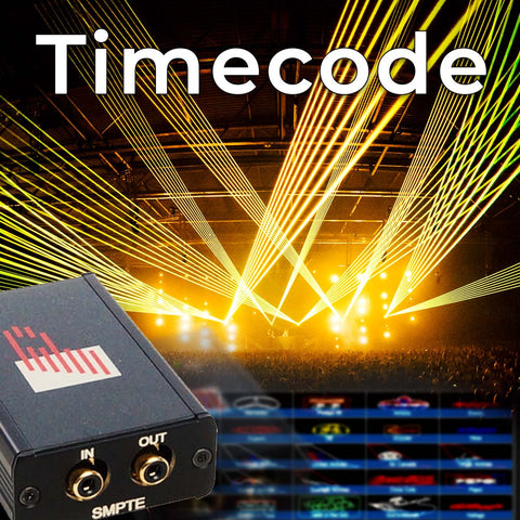 Timecode laser shows with TC4000 hardware