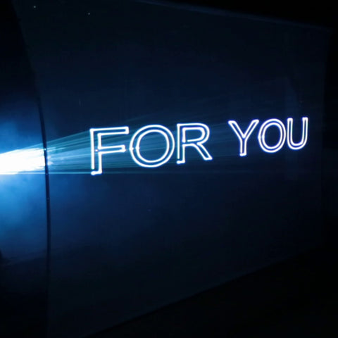Text scanning laser projection