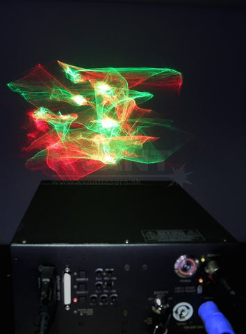 Lumia effect with KVANT laser projector