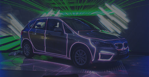 Car that is being laser mapped during a corporate event
