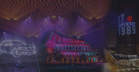 Types of laser shows edited graphic