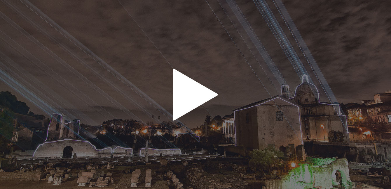 Laser mapping on an outdoor structure