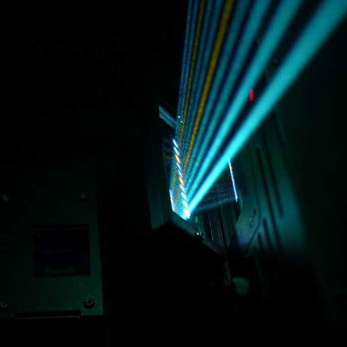 laser harp kvant in action side view