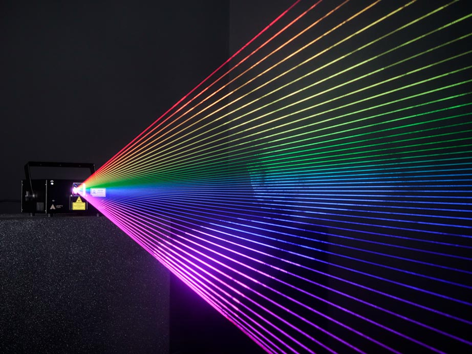 unity raw 3 spectrum of colored laser beams