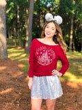 Christmas At The Castle - off the shoulder sweater