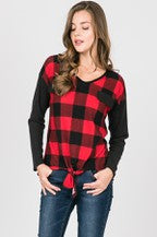 Buffalo Plaid Self Tie Top #9
