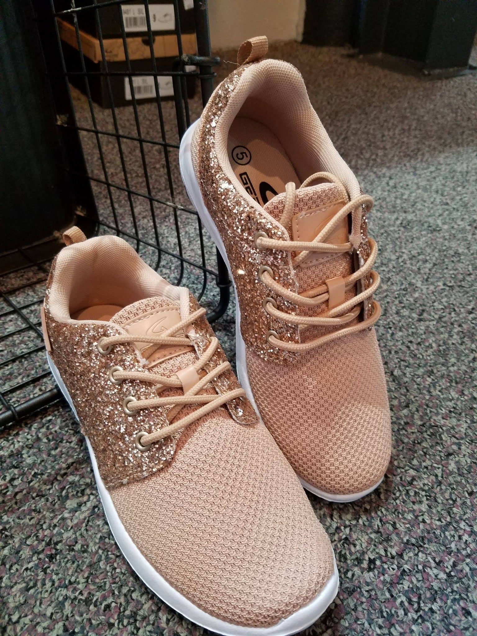 SH Lace Up Glitter Sneakers