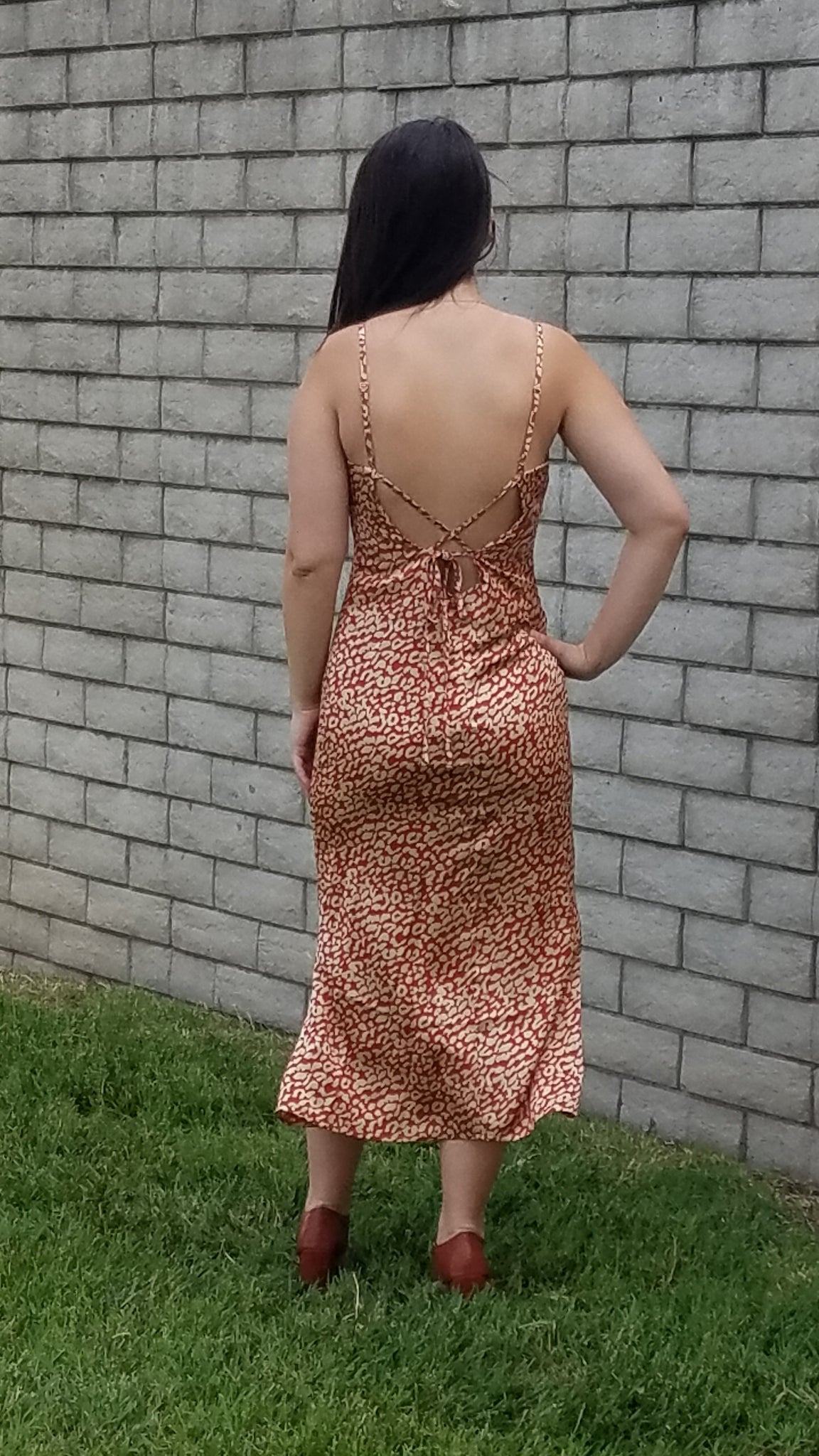 DR Leopard Print Satin Dress