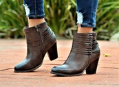 SH Closed Toe Zipper Ankle Bootie