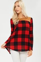 Buffalo Plaid Sweater w Suede Elbow Patches #8