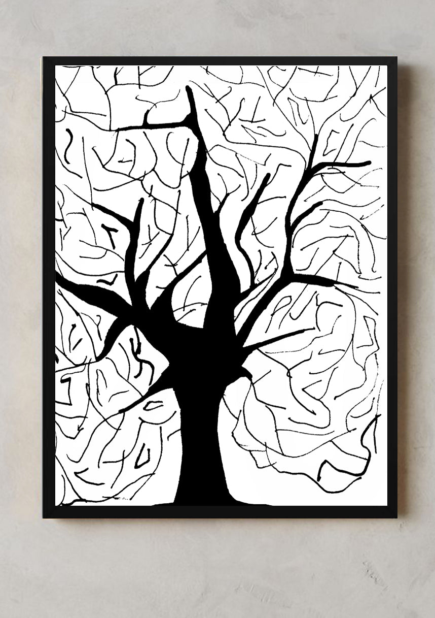 BRANCHES wall art black frame