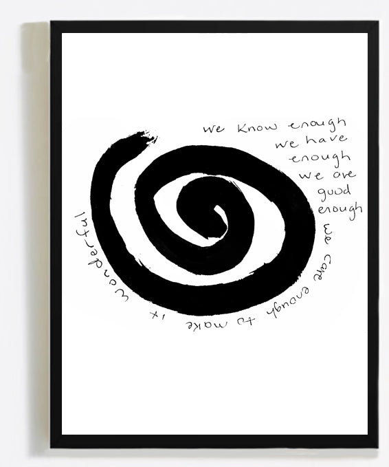 INFINITY wall art black frame