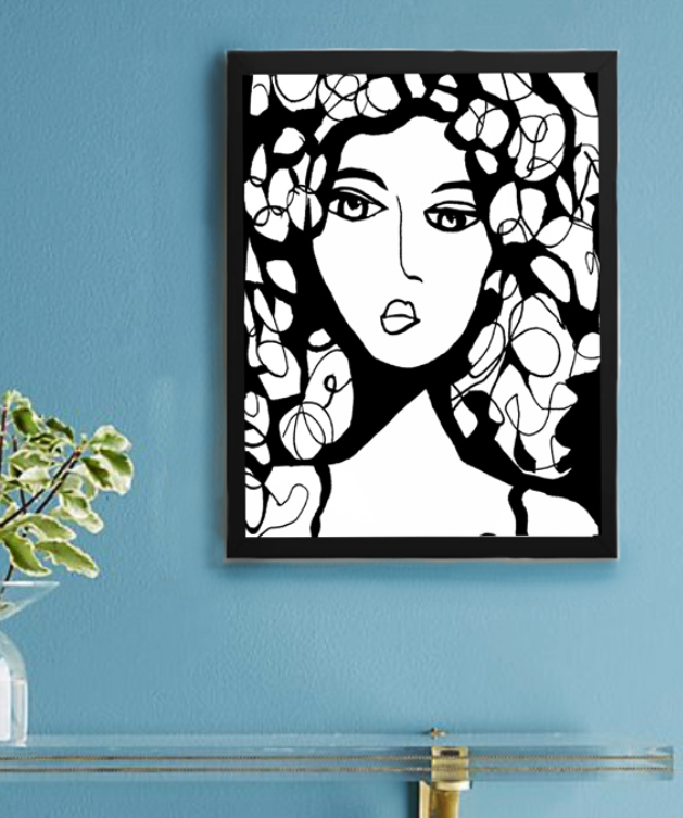 BEAUTY  Wall Art Black Frame