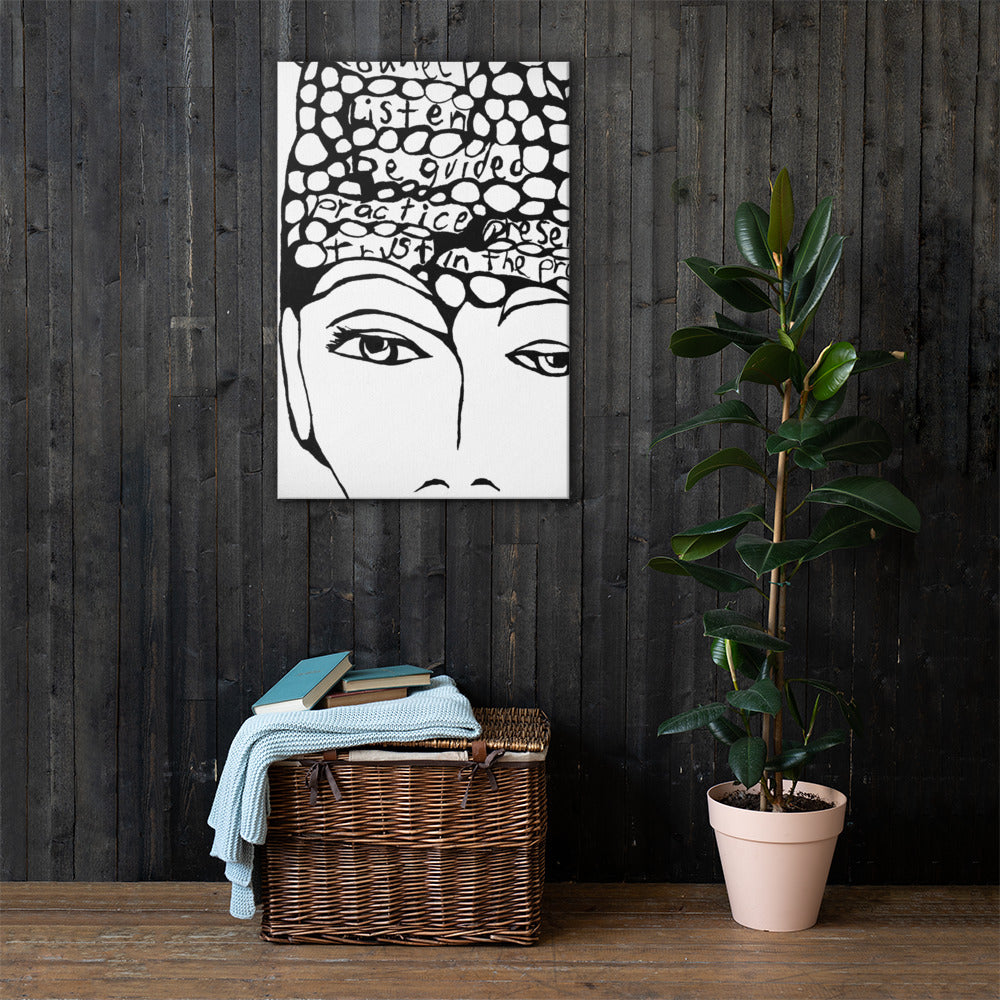 GUIDED canvas wall art