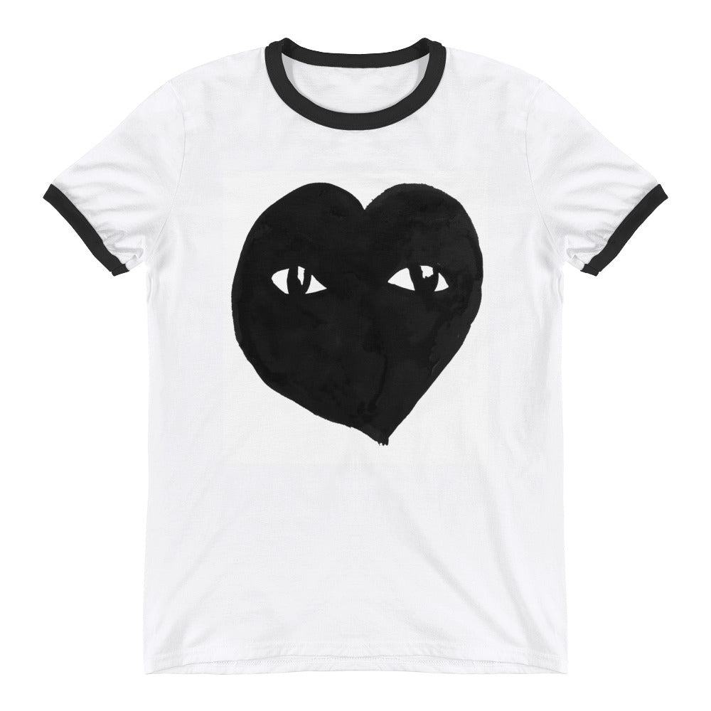 See with HEART Ringer Tee