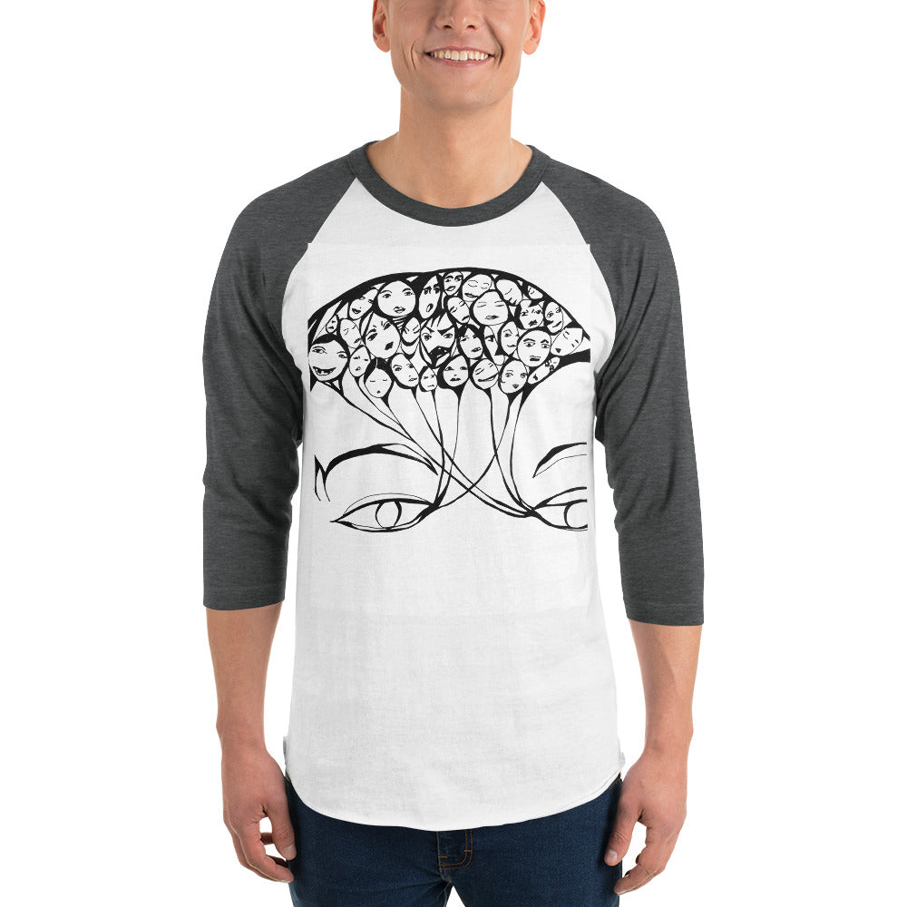 PERCEPTION 3/4 sleeve raglan shirt