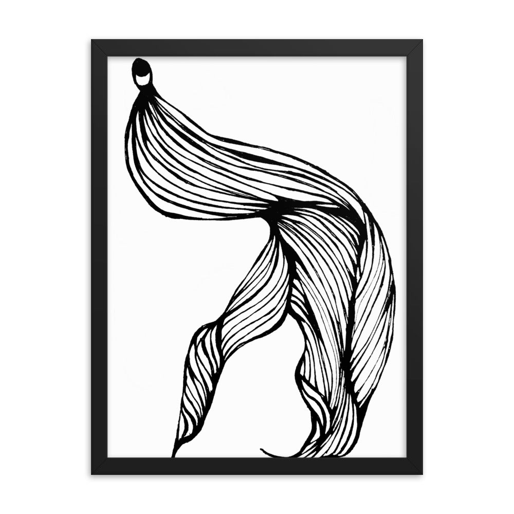 LIGHTWAVE wall art black frame