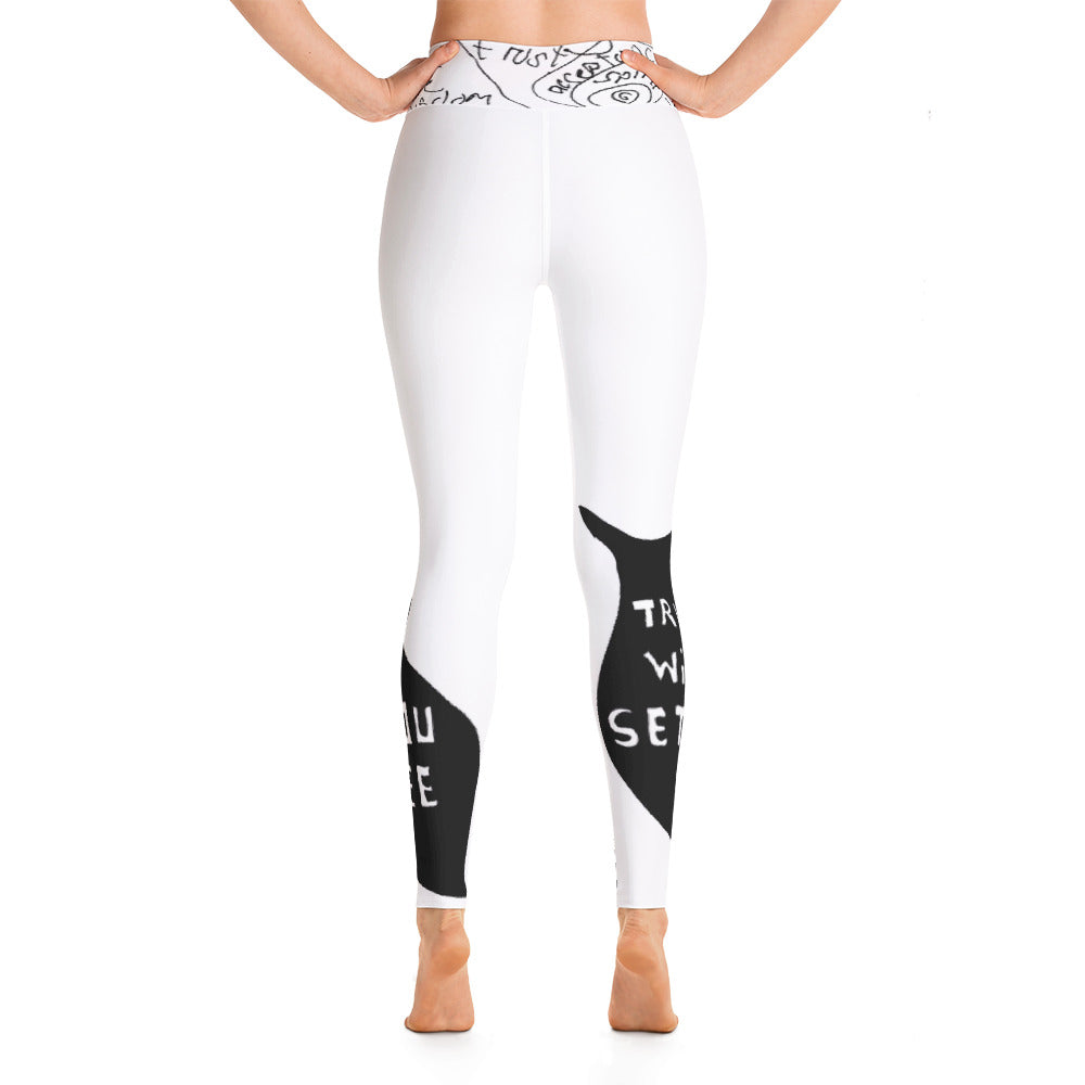 TRUTH yoga leggings white