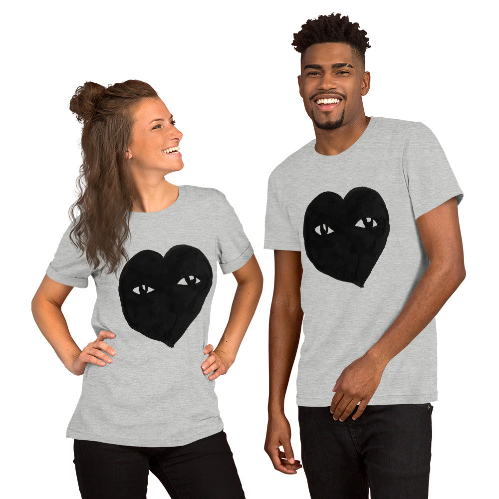 SEE with HEART Graphic Unisex Tee-Shirt