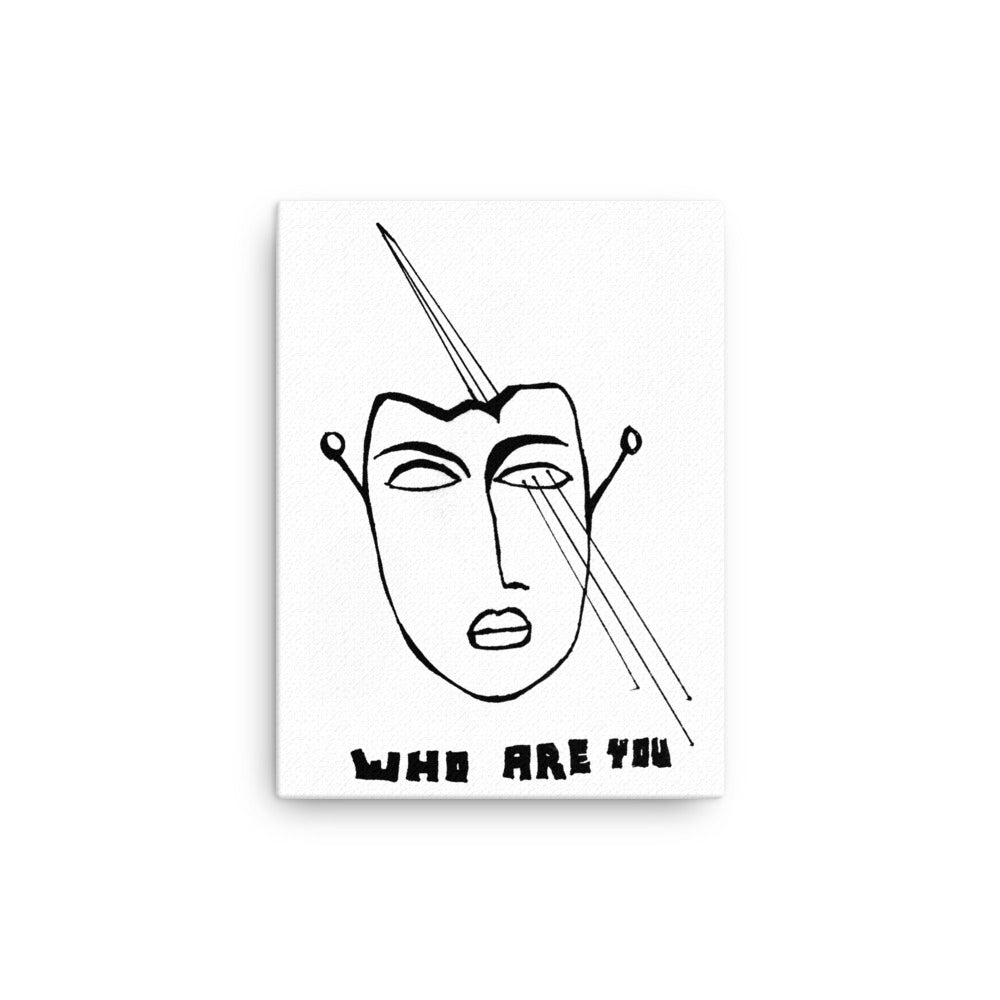 WHO ARE YOU wall art canvas