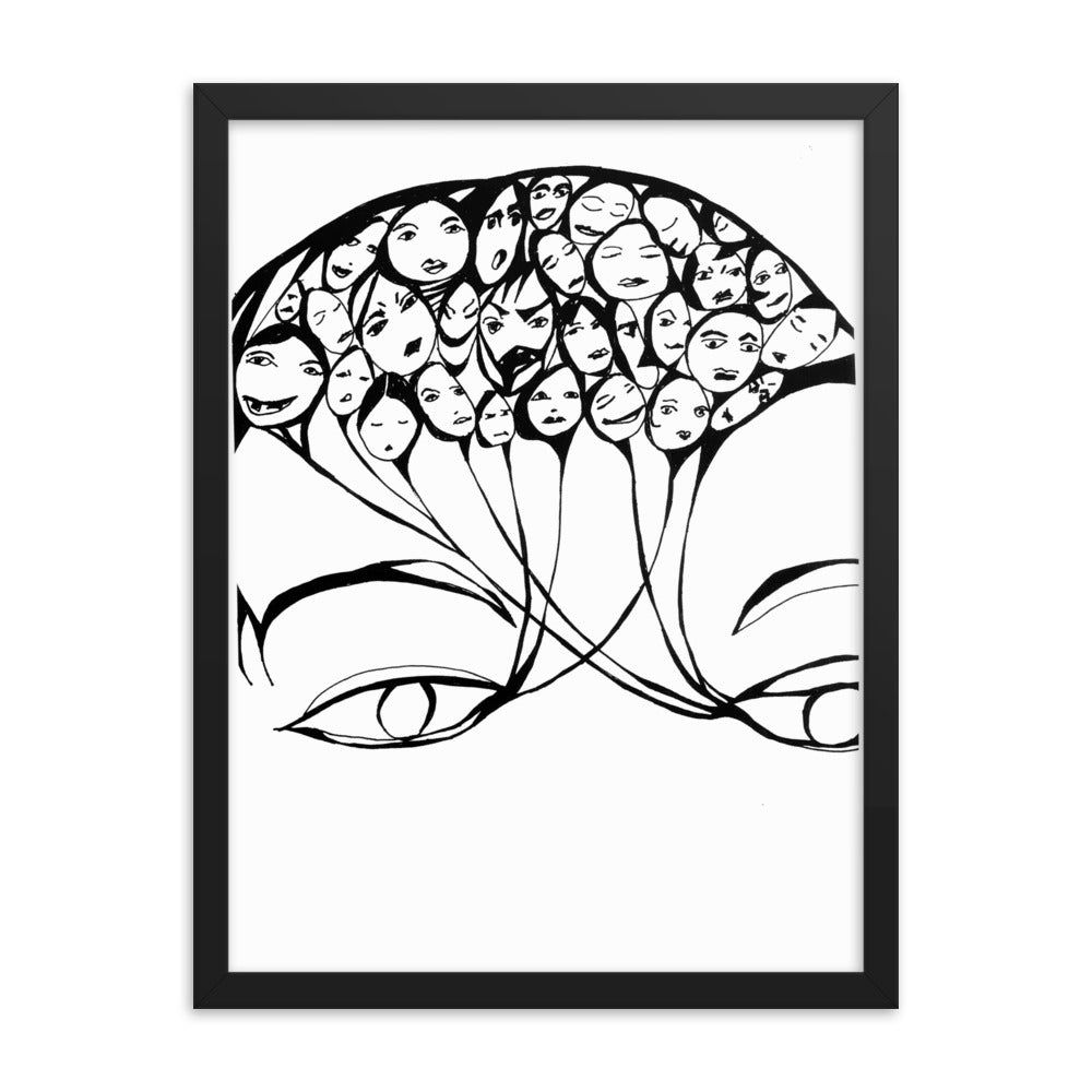 PERCEPTION wall art black frame