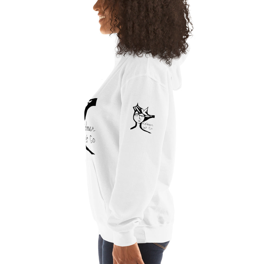 RELEASE LET GO Hooded Sweatshirt white