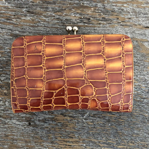 Exotic1930's  Leather Vintage  Change Purse - City Girl Barn Treasures