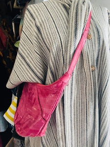 1980's Pink Eel Skin Hobo  Bag - City Girl Barn Treasures