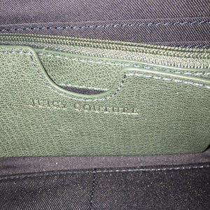 Juicy Couture Forest Green Studded Zippered Clutch Wallet - City Girl Barn Treasures