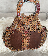 1970's Woven Leather Brown Hand Bag - City Girl Barn Treasures