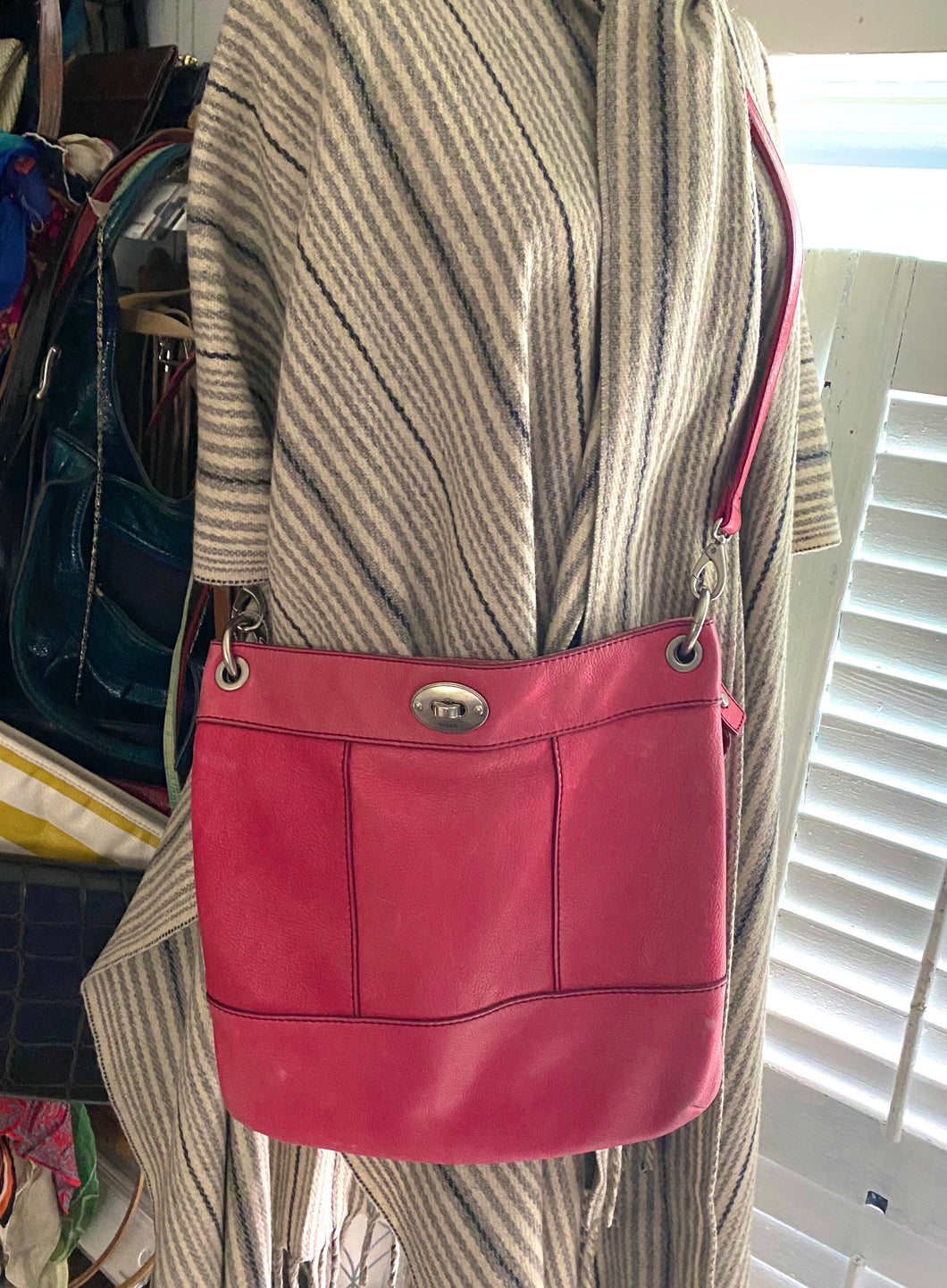 Fossil  Pink Covertable  Cross Body Bag - City Girl Barn Treasures
