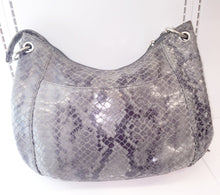 Michael Kors Snakeskin Embossed Leather Charm Tassel Handbag - City Girl Barn Treasures